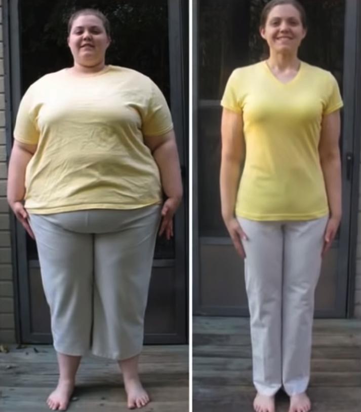 kobieta po kuracji suplementów diety