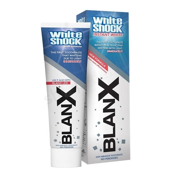Pasta wybielająca BLANX White Shock + nakładka naświetlająca