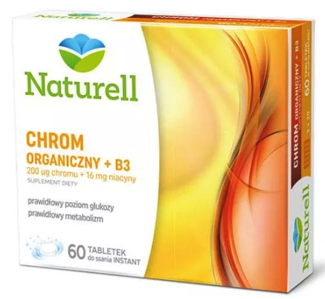 NATURELL CHROM ORGANICZNY + B3 60 TABLETEK