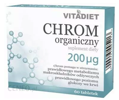 VITADIET CHROM ORGANICZNY 200 MCG 60 TABLETEK